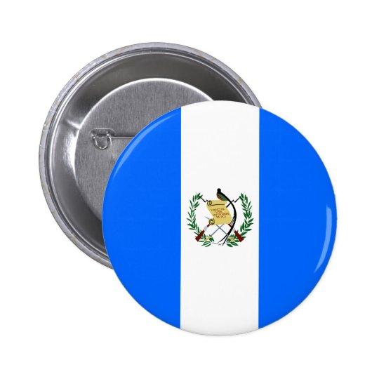 Bandera de alta calidad de Guatemala Pin Redondo De 2 Pulgadas