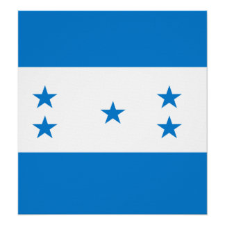 Bandera de alta calidad de Honduras Impresiones