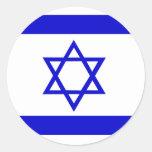Bandera de alta calidad de Israel Etiqueta Redonda