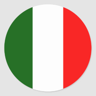 Bandera de alta calidad de Italia Pegatina Redonda