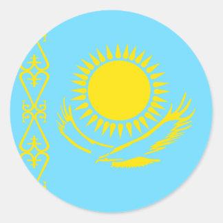 Bandera de alta calidad de Kazajistán Pegatina Redonda