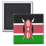 Bandera de alta calidad de Kenia Imanes De Nevera
