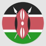 Bandera de alta calidad de Kenia Pegatina Redonda