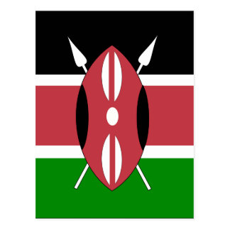 Bandera de alta calidad de Kenia Tarjetas Postales