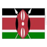 Bandera de alta calidad de Kenia Tarjetón