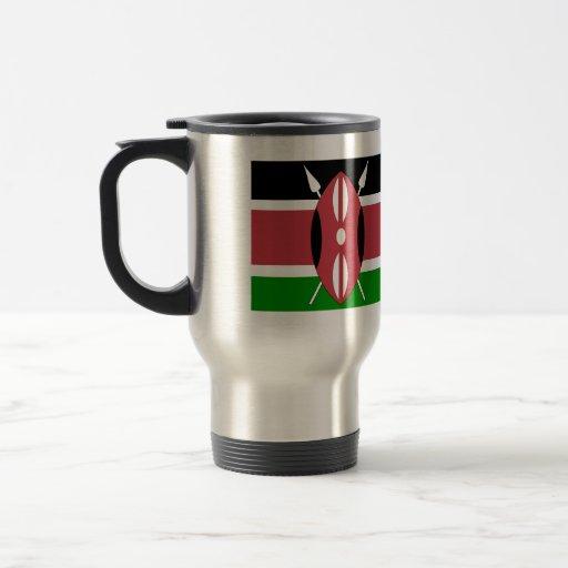Bandera de alta calidad de Kenia Tazas