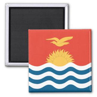 Bandera de alta calidad de Kiribati Imán Cuadrado