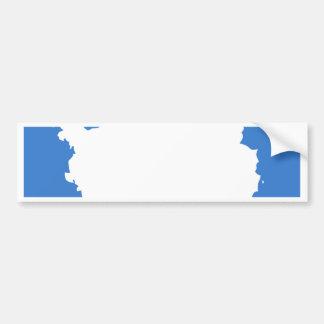 Bandera de alta calidad de la Antártida Pegatina De Parachoque