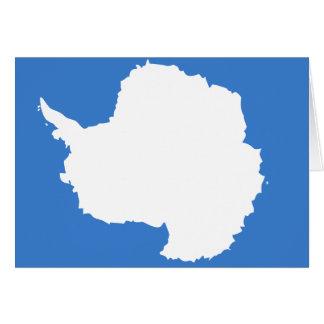 Bandera de alta calidad de la Antártida Tarjeta