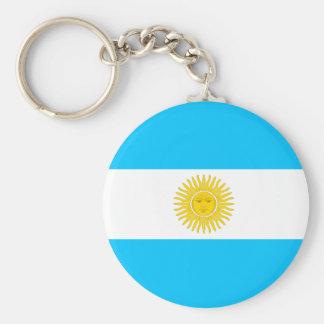 Bandera de alta calidad de la Argentina Llaveros Personalizados