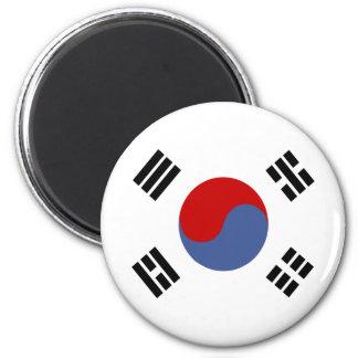 Bandera de alta calidad de la Corea del Sur Imán Redondo 5 Cm