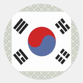 Bandera de alta calidad de la Corea del Sur Pegatina Redonda