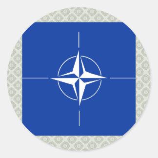 Bandera de alta calidad de la OTAN Pegatina Redonda