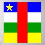 Bandera de alta calidad de la República Centroafri Impresiones