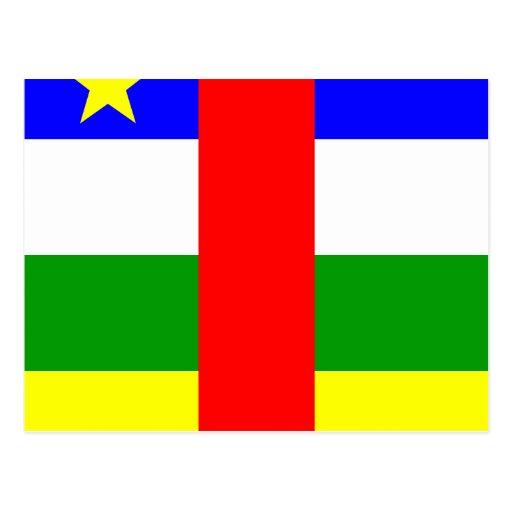 Bandera de alta calidad de la República Centroafri Postales