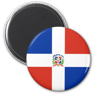 Bandera de alta calidad de la República Dominicana Imán