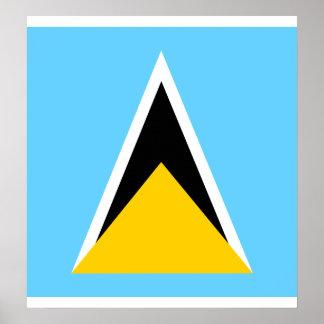 Bandera de alta calidad de la Santa Lucía Impresiones
