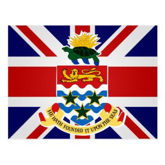 Bandera de alta calidad de las Islas Caimán Postales
