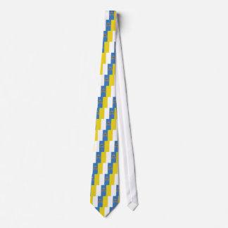 Bandera de alta calidad de las islas Canarias Corbatas Personalizadas