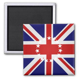 Bandera de alta calidad de las islas de cocinero imán cuadrado