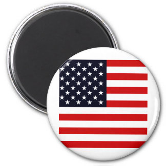 Bandera de alta calidad de los E.E.U.U. Imán Redondo 5 Cm