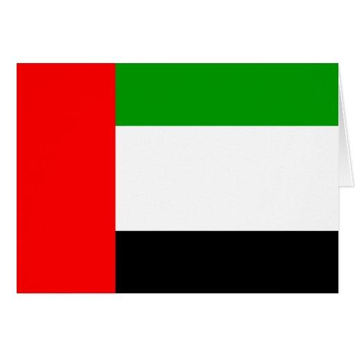 Bandera de alta calidad de los emiratos árabes tarjeta de felicitación