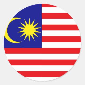 Bandera de alta calidad de Malasia Pegatina Redonda
