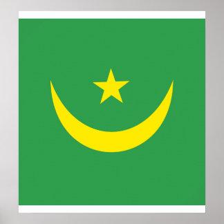 Bandera de alta calidad de Mauritania Posters