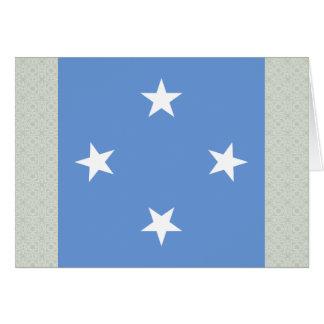 Bandera de alta calidad de Micronesia Tarjeta De Felicitación