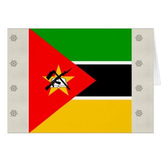 Bandera de alta calidad de Mozambique Tarjeta De Felicitación
