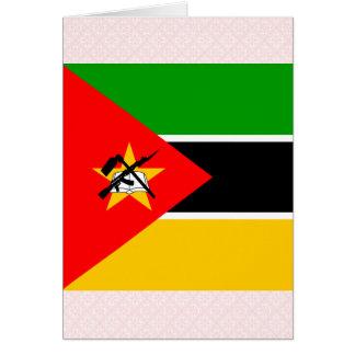 Bandera de alta calidad de Mozambique Felicitación