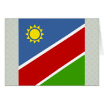 Bandera de alta calidad de Namibia Felicitación