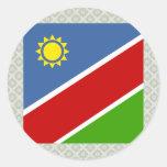 Bandera de alta calidad de Namibia Pegatinas Redondas