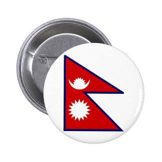 Bandera de alta calidad de Nepal Pin