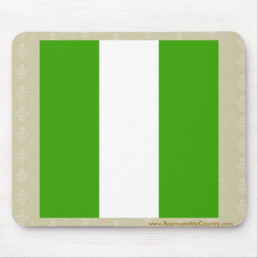 Bandera de alta calidad de Nigeria Alfombrillas De Raton