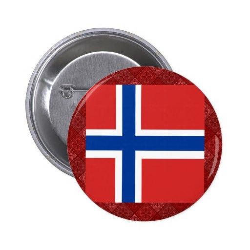 Bandera de alta calidad de Noruega Pins