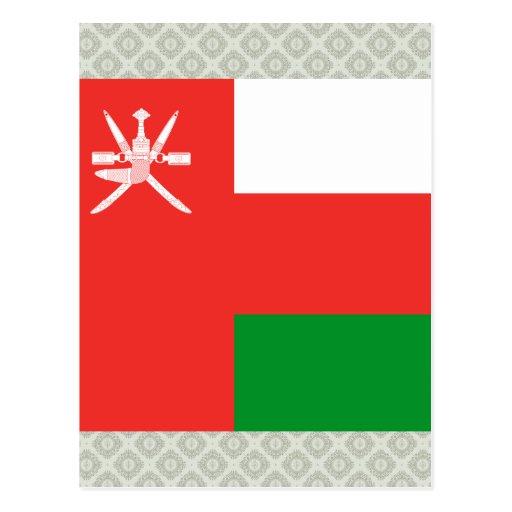 Bandera de alta calidad de Omán Tarjeta Postal