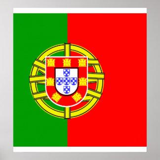 Bandera de alta calidad de Portugal Poster