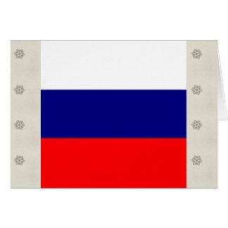 Bandera de alta calidad de Rusia Tarjeton