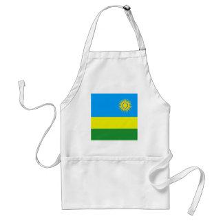 Bandera de alta calidad de Rwanda Delantal