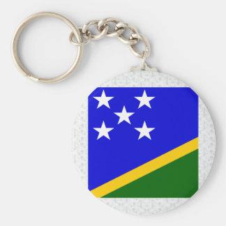Bandera de alta calidad de Solomon Island Llaveros Personalizados