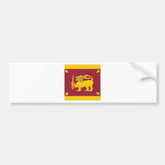Bandera de alta calidad de Sri Lanka Pegatina Para Auto