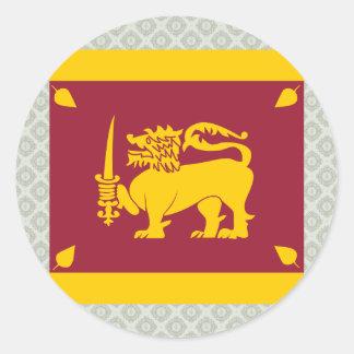 Bandera de alta calidad de Sri Lanka Pegatina Redonda