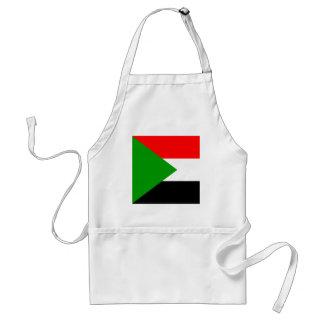 Bandera de alta calidad de Sudán Delantales