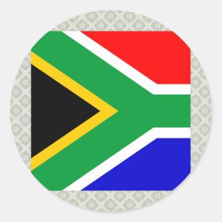 Bandera de alta calidad de Suráfrica Pegatina Redonda