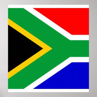 Bandera de alta calidad de Suráfrica Poster