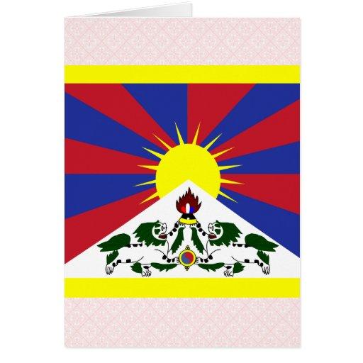 Bandera de alta calidad de Tíbet Tarjeta De Felicitación