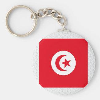 Bandera de alta calidad de Túnez Llavero Redondo Tipo Pin