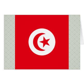 Bandera de alta calidad de Túnez Tarjeta De Felicitación