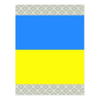 Bandera de alta calidad de Ucrania Tarjetas Postales